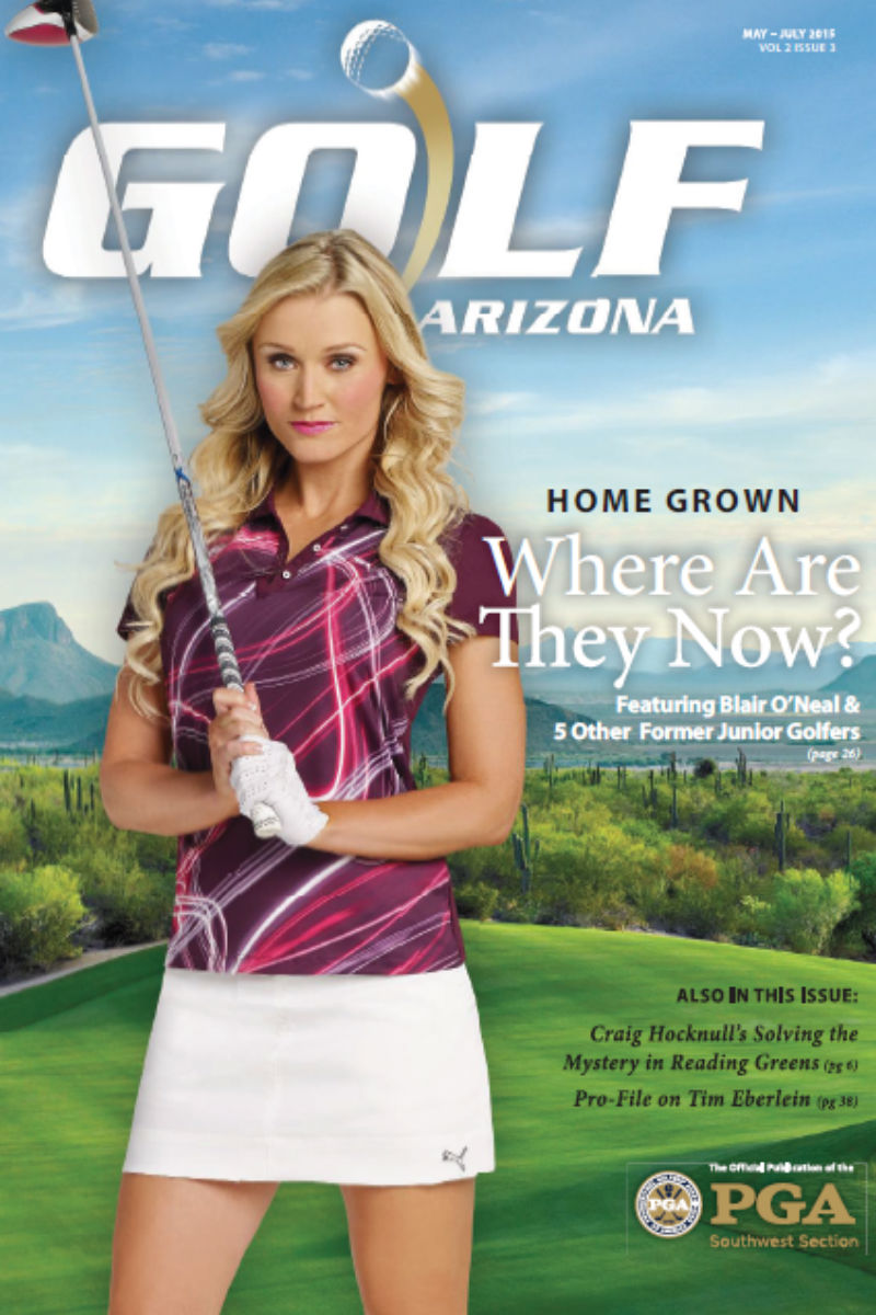 Blair O'Neal on the cover of Golf Arizona magazine May 2015